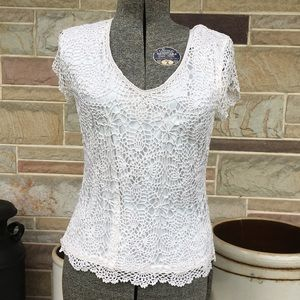 M. Nicole Evening Crochet Top